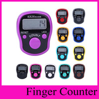 Wholesale Row Counter Electronic - Mini Electronic LCD Digital Golf Hand Held Finger Ring Tally Counter Timer Digit Stitch Marker Row Counter Clicker
