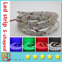 Wholesale Wholesale Bent Wire - 2016 NEW Led Strips S-shaped Bend Freely smd2835 Led Light Strips 12V 5m 300LEDs Non-Waterproof For Channel Letter Box Signs Lighting
