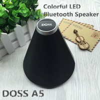 Wholesale Doss Mini Speaker - New Handsfree Led Light Mini Surround Wireless Bluetooth Speaker DOSS ds-1507 A5 TF FM HiFi Bluetooth Speaker