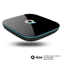 Q Box Android TV Box 2GB RAM 16GB FLASH KD 16.0 Google Streaming Media Player Box Smart Supporta il Dual WiFi Bluetooth 1000M LAN S905W T95Z