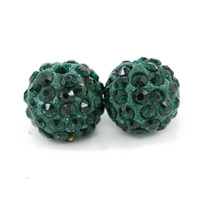 Handmade New Design Round Ball Beads With Pave Rhinestone Tamanho 6mm, 8mm, 10mm, 12mm 100pcs / saco