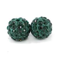 bolas de diamantes de imitación de 12 mm al por mayor-Las bolas redondas hechas a mano del nuevo diseño con pavimenta el tamaño del diamante artificial 6mm, 8mm, 10mm, 12mm 100pcs / bag
