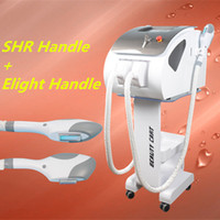 Wholesale Face Shot - opt shr hair removal machine elight Skin Treatment Pigment Acne Therapy Beauty Equipment 2 treatment handles 300000 shot