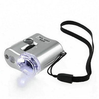 Wholesale 60 X Microscope Jade Jewelry Appraisal Loupe Mini Magnifier With LED UV Light