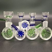 Wholesale Pyrex Clear Glass Bowls - Colorful Pyrex 14mm 18mm glass bowl bowls for bongs smoking green blue slide glass bowls thick clear glass water pipes for oil rigs