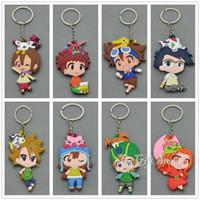 Wholesale Digimon Movie - Free Shipping EMS Agumon Gomanon Gabumon Tailmon Biyomon Palmon Patamon Tentomon Digimon Keychain Pendants Doll Toy #2
