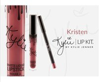 Wholesale Ginger Mix - 2016 Kristen Ginger Maliboo KYLIE JENNER LIP KIT Kylie Matte Liquid Lipstick & Lip Liner Kylie lip 3 New Color free shipping