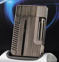 Wholesale Metal Bullet Lighters - Grey Gold Silver Bullet Memorial S.T. Lighter Metal Du pont Lighters Cigarette Gas Bright Sound