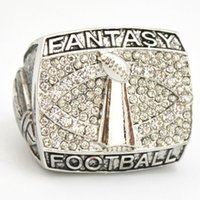 Wholesale Ring Silver Quality - Free Shipping high quality fantasy football championship ring solid souvenir Sport men ring fan gift