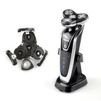 retail 4 in 1 kemei electric shaver triple blade electric shaving razors men face care 4d floating km5181 washable