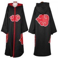 Wholesale Akatsuki Clothes - Wholesale-men women wholesale naruto costume sasuke uchiha cosplay itachi clothing hot anime akatsuki cloak cosplay costume size s-2xl