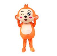 personagens de banda desenhada do macaco venda por atacado-Trajes de mascote do macaco Cartoon personagem adulto Sz 100% Real imagem 001