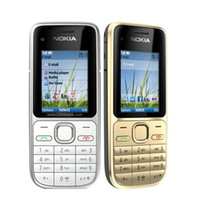Wholesale multi os - Original NOKIA C2-01 Mobile Phones 2.0 inch 3.2MP Single Camera Bar 3G WCDMA Refurbished Phones