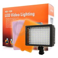 Wholesale Led Camera Light 126 - HD-126 LED Video Lamp Light Camera Lighting for Canon Nikon Olympus Pentax D120