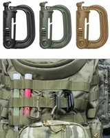 Wholesale D Ring Climbing Carabiner - Free shipping Brand New Molle Tactical Backpack EDC D-ring carabiner buckle key chain hanging buckle high strength ITW lightweight equipment