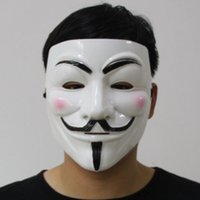 Wholesale Guys Coats - Halloween Party V Vendetta V word Mask Costume Guy Fawkes Anonymous Halloween Masks Fancy Cosplay SP