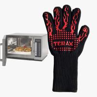 guantes de cocina de silicona para horno al por mayor-Resistente al calor Silicona Cocina Horno de microondas Guante de cocción Parrilla A la parrilla Mitones Guante Parrilla Cocción de guantes IC709