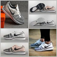 Mesh black tracer - 2017 Trainer OG Knit Racer Oreo Black White Pink tracer Sports Shoes Air Lunar Free Run Running Shoes Men Women Luxury Sneakers