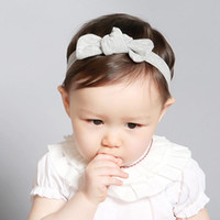 Wholesale Wholesale Korean Baby Headbands - 2016 Hot Korean Style Cute Cotton Baby Girls Knotted Headband Toddler Turban Bowknot Headwear Jersey Knit Headband Princess Hair accessories