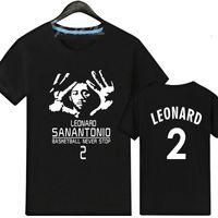 Wholesale Leaders Clothing - Leader player t shirt Kawhi Leonard short sleeve gown Basketball star tees Leisure unisex clothing Quality cotton Tshirt