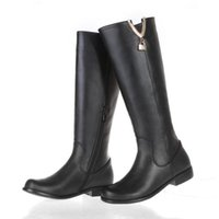 Wholesale Selling Boot For Women Knee - SJJH Hot Selling Genuine Leather High Leg Shoes For Fashion Girl And High Quality rainboots EXD053