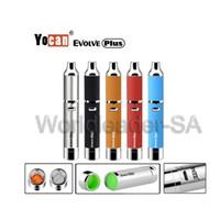 Wholesale usb tool kit - Authentic Yocan Evolve Plus Kit with 1100mAh Battery Quartz Dual Coil QDC Dab Tool USB Cable E Cigarette Kits