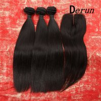 Wholesale Discount Remy Hair 22 - Limited time discount!Top Quality 100% 6A Indian Hair Straight Remy Human Hair Buy 3 Bundles Get 1 Bundles Free Lace Closure Free Shipping