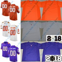 Clemson Tigers College Football Maillot 35 Ty Thomason 21 Darien Rencher 5 T-shirt Higgins 41 Alex Spence 92 Greg Huegel 1 Trevion Thompson