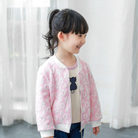 Wholesale Cheap Hot Girl Clothing - Kids clothing 2016 sweat flowers girls jackets Crew neck casual coat All-matched tops autumn hot sale clothing cheap price Fast shipping