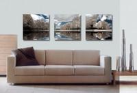 печать на холсте оптовых-Современные красивые цветы Fine Tree Picture Giclee Print On Canvas Home Decor Wall Art Set30169