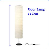 Wholesale Floor Reading Lamps - Wholesale-Free Shipping Holmo Contracted Floor Lamp Reading Lamp Paper Lampshade For Living Room Bedroom Sitting Room