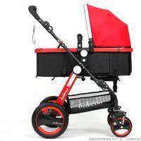 Wholesale Baby Pram System - Bassinet Stroller System,High Landscape Stroller Kids,Baby Trolley Folding Baby Pushchair Car Kid Carriage By Style Pram