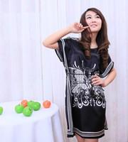 Wholesale Girls Hot Nights Dress - Wholesale-print 2016 new hot sale women nightwear Nightgowns girls Floral sleepwear casual robe night summer dress home clothing