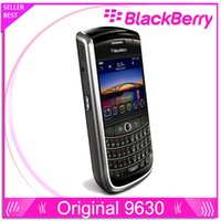 Wholesale Wholsale Mobile Phones - Wholsale Original BlackBerry Tour 9630 GPS cellphone 3.2MP JAVA QWERTY Keyboard MP3 single core Black Unlocked Mobile Phone