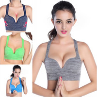 Wholesale Sports Bras Plus Size Wholesale - Sexy Women Sportswear Fitness Stretch Bra Racerback Workout Padded Tank Top Sports Bras plus size S-XL