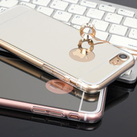ingrosso casi di paraurti in alluminio iphone-2018 Nuovo arrivo! Specchio di lusso oro metallo alluminio paraurti ibrido copertura del telefono posteriore dura per Samsung S8 S7