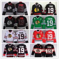 Wholesale Blackhawk Full - 2017 New Chicago Blackhawk high quality NHL Hockey Jerseys Ice 19 Jonathan Toews Jersey Men's Authentic Stitched
