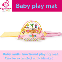 Wholesale Crawling Blanket Music - Wholesale- Elephant bear flower Music Soft baby Play mat Blanket Pad twin Fitness Frame Educational Baby Toys Climb Crawling Baby Gym
