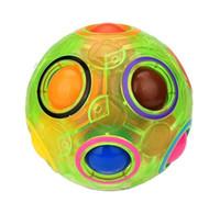 erwachsene spielzeug glühen großhandel-DHL Luminous Rainbow Ball Magic Cube Geschwindigkeit Fußball Glow Fun Spherical Puzzles Kinder Pädagogische Lernspielzeug Spiele für Erwachsene Weihnachtsgeschenk