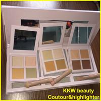 Wholesale Makeup Light Set - Factory Direct Kylie Cosmetics KKW Beauty Powder Contour & Highight Kit+ Brush 3 different kits set Light Medium Dark Face Makeup DHL free