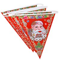 Others outdoor christmas banners - 2016 New Christmas Decorations For Home Santa Claus Hanging Flag Banner Pennant Home Party Christmas Ornaments Supplies