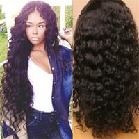 yapışkan olmayan tam dantel peruk notası toptan satış-Uzun vücut dalga Brezilyalı İnsan saç peruk tutkalsız tam dantel bakire saç peruk veya kadınlar dantel ön 7A sınıf su dalgası peruk