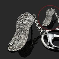 Wholesale high heels keychains - Hot Sale Women High-heeled Shoes Metal Keychain for Women Bags Cars Charm Gifts 20pcs free shipping