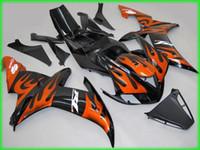yzf r1 kit de carenagem chama venda por atacado-Laranja chamas Fairing kit para YAMAHA YZFR1 02 03 YZF R1 2002 2003 YZF1000 yzfr1 ABS molde de Injeção Fairings set