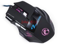 Wholesale Office Use Computer - Brand new Wired Gaming Mouse 7 Button LED Optical USB Wired Computer Mouse Cable Mice Office Home Use