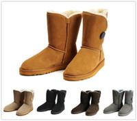 Wholesale Winter Female Boots - Fashion classic high quality 2017 new fashion Australian classic high winter boot leather boots female boots snow boot