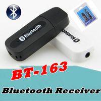 usb 3.5mm adaptör toptan satış-BT-163 usb bluetooth Stereo Müzik alıcısı Adaptörü Kablosuz Araç Ses iphone iphone için 3.5mm Bluetooth Alıcısı Dongle mp3