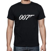 James Bond 007 Tees Männer Tshits Lässige Film Serie Kurzarm Oansatz T-shirt Mode Tops