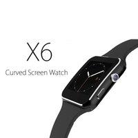 huawei android livraison gratuite achat en gros de-Livraison gratuite Bluetooth Smart Watch X6 Relojes Carte SIM TF TF MTK6261D Caméra Hommes Montre Smartwatch Pour Android Téléphone Huawei Wearable Devices