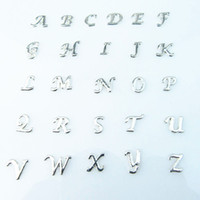 Wholesale Mixed Alphabet Charms - floating charms 130pcs lot Wholesale high quality mix crystal letter charms diy A-Z alphabet floating locket charms for living glass locket